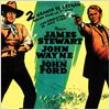 El hombre que mató a Liberty Valance : Cartel James Stewart, John Ford, John Wayne