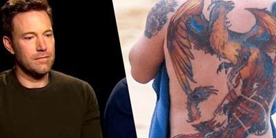 Internet se ríe del tatuaje en la espalda de Ben Affleck