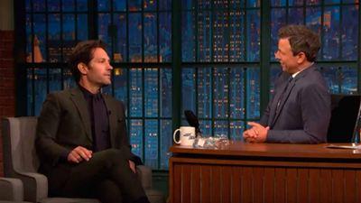 Paul Rudd y Seth Meyer revelaron el título de 'Vengadores 4: Endgame' antes que nadie
