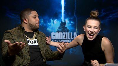 """Jugamos con Millie Bobby Brown y O'Shea Jackson Jr. a """"Godzilla o comida"""" por 'Godzilla: Rey de los Monstruos'"""