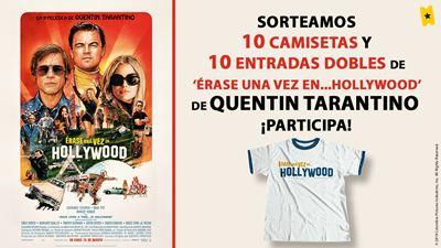 ¡SORTEAMOS 10 PACKS DE CAMISETA + ENTRADA DOBLE DE 'ÉRASE UNA VEZ EN... HOLLYWOOD' (15 DE AGOSTO EN CINES)!