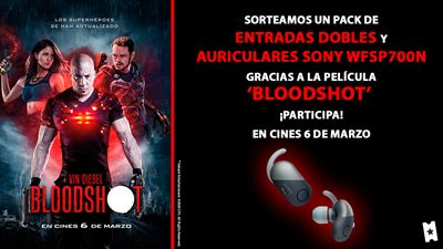 Sorteamos un pack de entradas y auriculares Sony WFSP700N de 'Bloodshot'