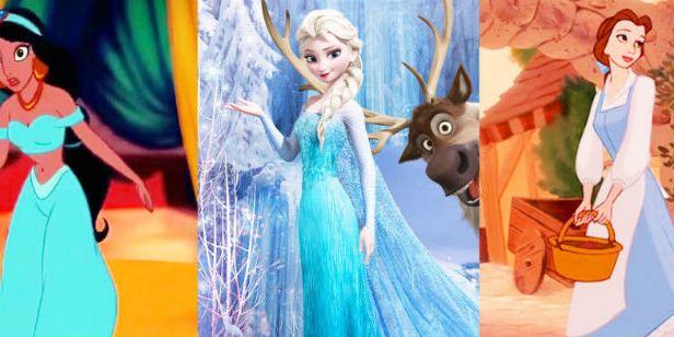 ¿Por qué casi todas las princesas Disney visten de azul?