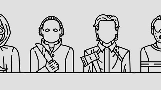 Personajes clásicos del cine de terror (y otros) en iconos minimalistas, ¿cuántos puedes adivinar?