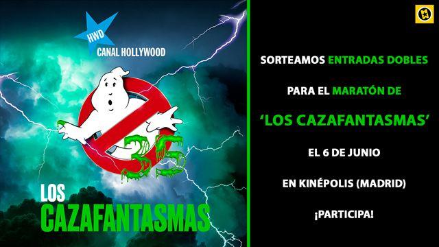 ¡SORTEAMOS ENTRADAS DOBLES PARA UN MARATÓN DE 'LOS CAZAFANTASMAS' GRACIAS A CANAL HOLLYWOOD!