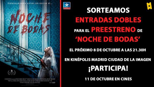 Te invitamos al preestreno de 'Noche de bodas' en Kinépolis Ciudad del Cine (Madrid)