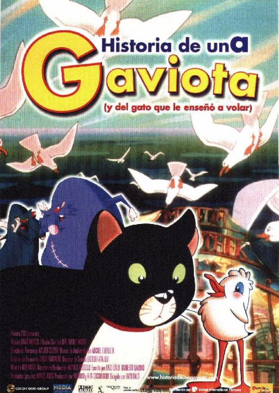 Cartel de Historia de una gaviota (y del gato que le