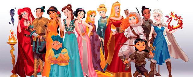 Princesas disney como personajes de 39 juego de tronos for Crea tu mural disney