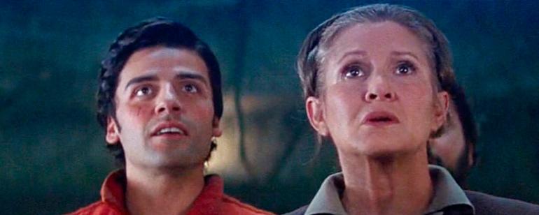 'Star Wars: Los últimos Jedi': Oscar Isaac habla sobre el vínculo de Poe Dameron y Leia Organa