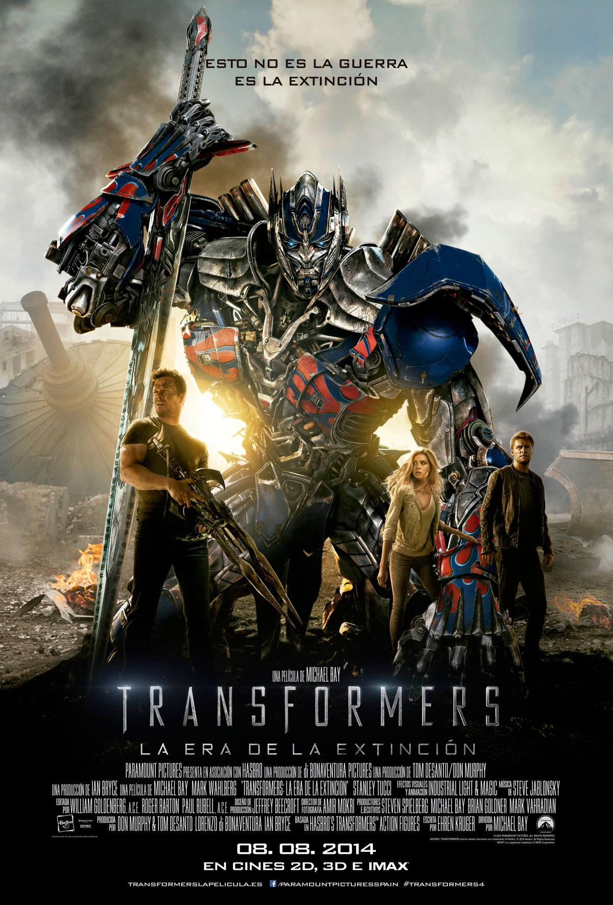 Transformers La Era De La Extinción Película 2014 Sensacinecom