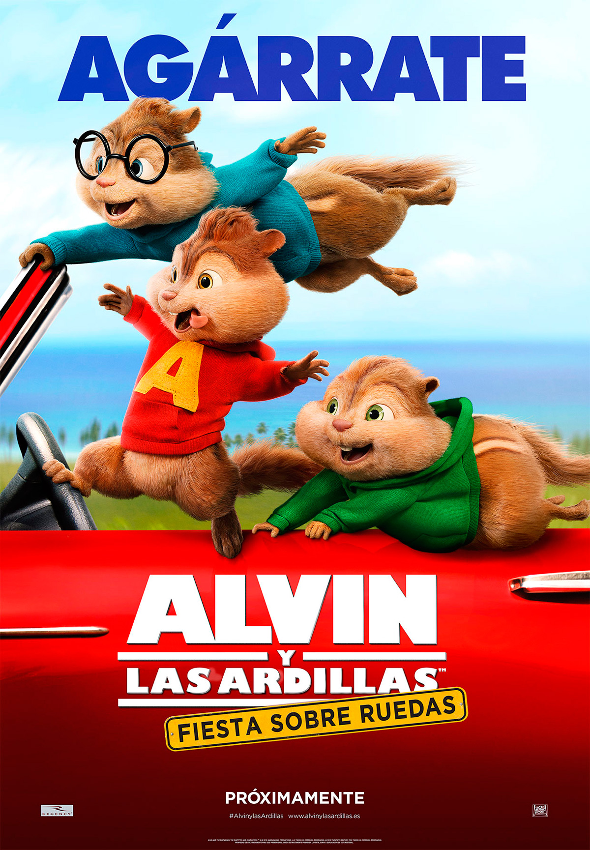 Alvin y las ardillas fiesta sobre ruedas pel cula 2015 - Cartelera de cine artesiete las terrazas ...