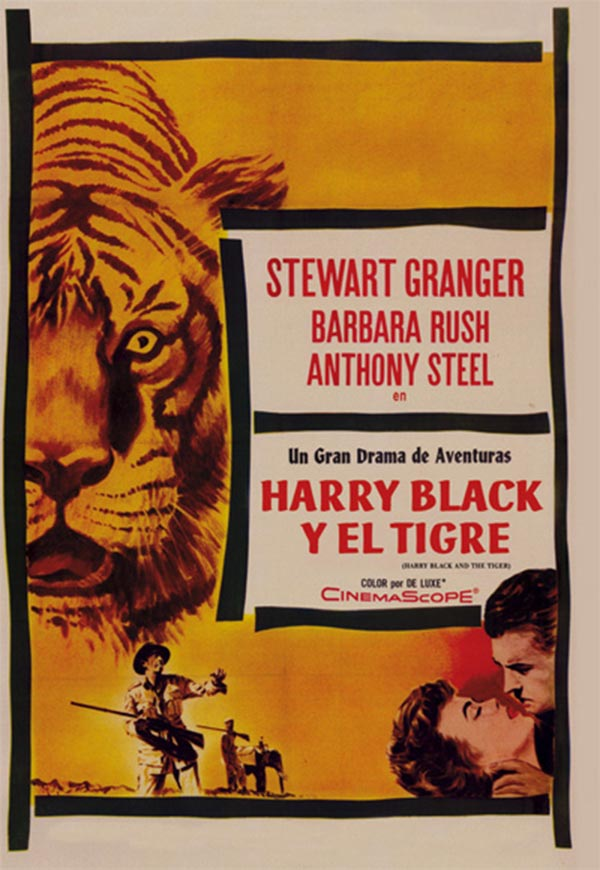 Resultado de imagen de harry black y el tigre 1958