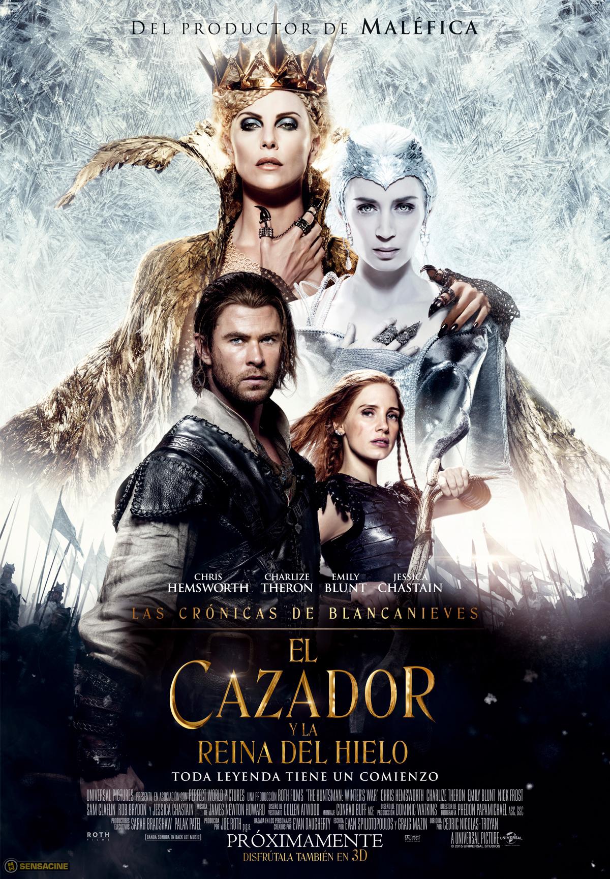 Resultado de imagen para el cazador y la reina del hielo