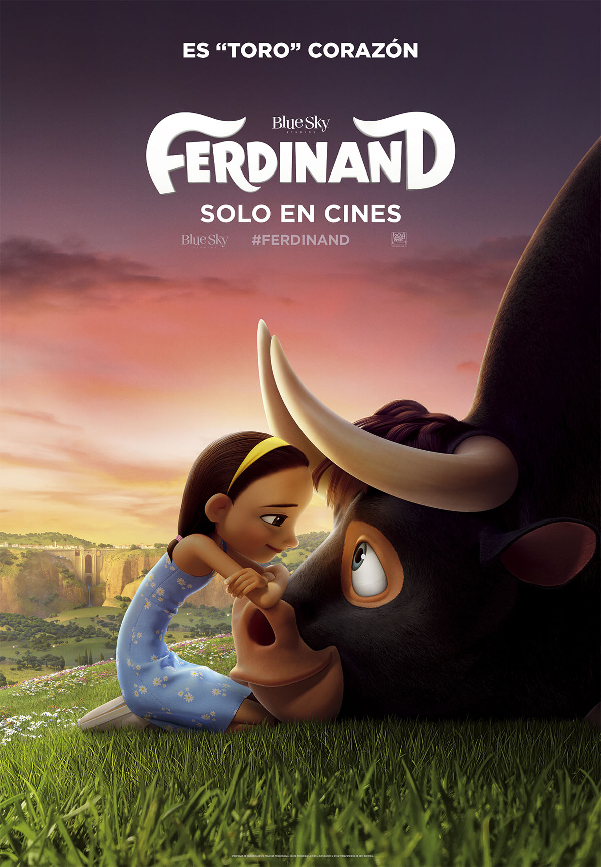 Resultado de imagen de FERDINAND 2017 CARTEL ESPAÑOL
