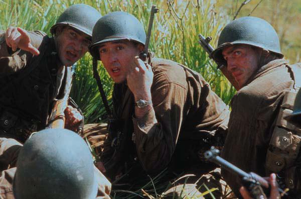 La delgada línea roja : Foto Ben Chaplin, Jim Caviezel, John Cusack
