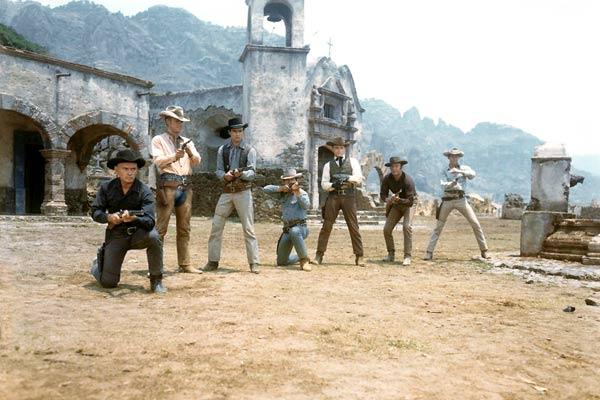 Los siete magníficos : Foto Brad Dexter, Charles Bronson, Horst Buchholz, James Coburn, John Sturges