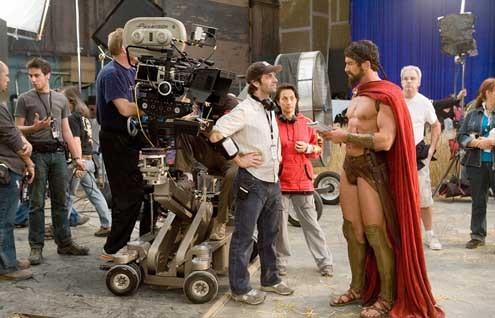 300 : Foto Gerard Butler, Zack Snyder