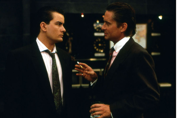 Wall Street : Foto Charlie Sheen, Michael Douglas, Oliver Stone