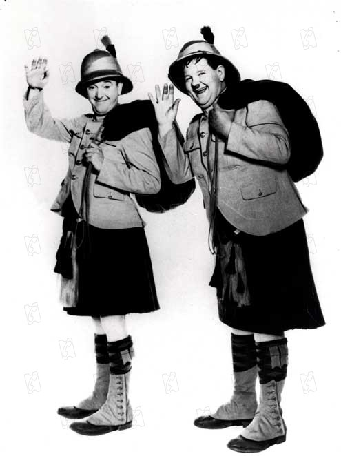 Dos fusileros sin bala : Foto James W. Horne, Oliver Hardy, Stan Laurel