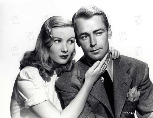 Foto Alan Ladd, George Marshall, Veronica Lake