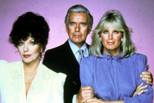 Dinastía : Foto Joan Collins, John Forsythe, Linda Evans