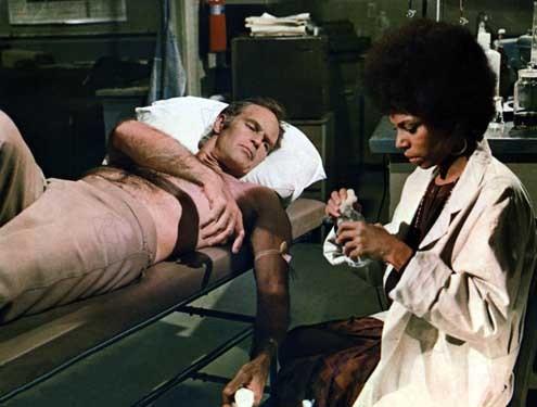 El último hombre... vivo : Foto Boris Sagal, Charlton Heston, Rosalind Cash