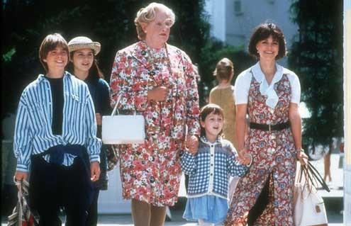 Sra. Doubtfire, Papá de por vida : Foto Lisa Jakub, Mara Wilson, Matthew Lawrence, Robin Williams