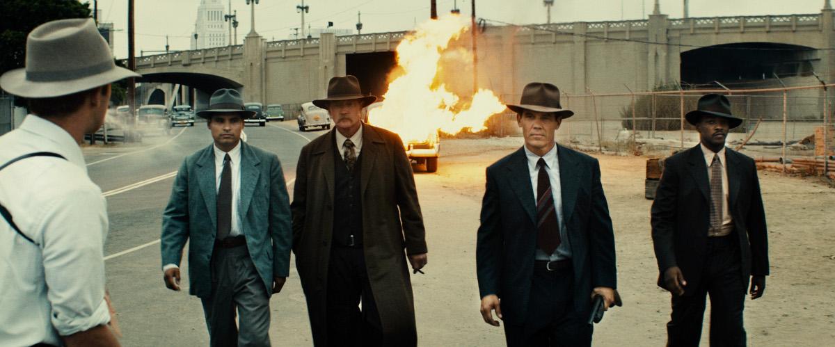 Gangster Squad (Brigada de élite) : Foto Anthony Mackie, Josh Brolin, Michael Peña, Robert Patrick