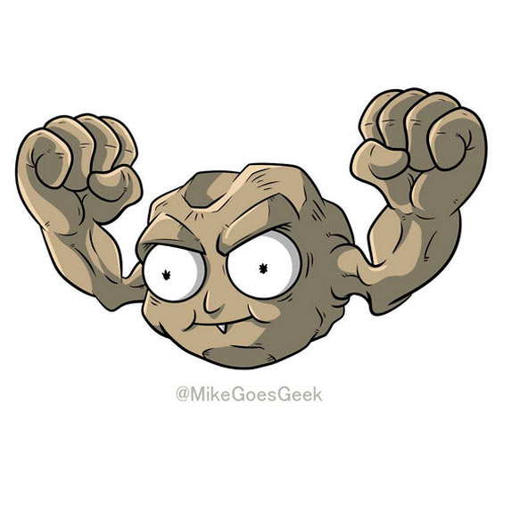 Morty Smith Jr. y Geodude
