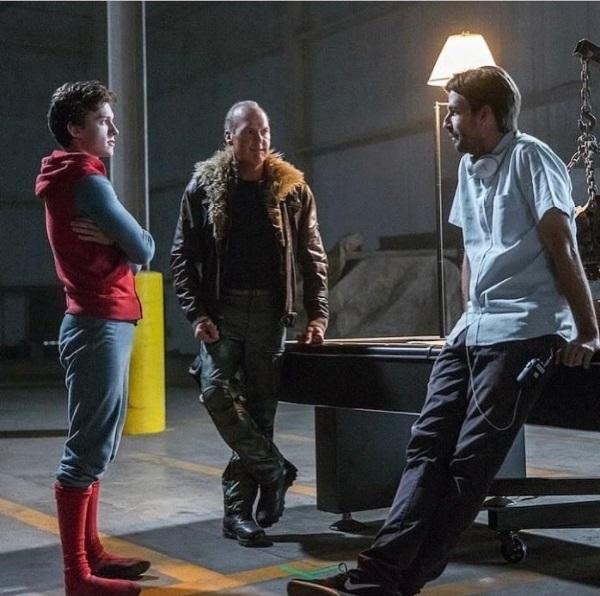 El Buitre y Spider-Man tras las cámaras