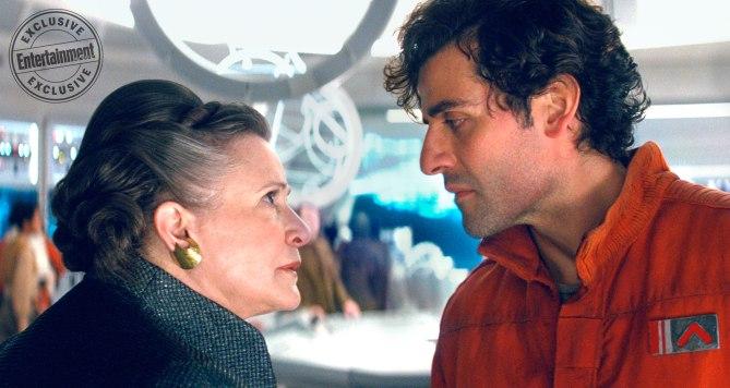 Leia y Poe Dameron