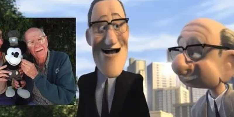 Estos son señores mayores son los animadores Frank Thomas y Ollie Johnston