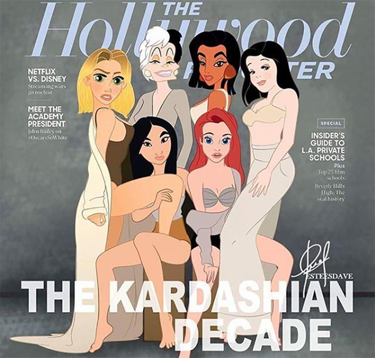 Las princesas Disney en la portada de THR