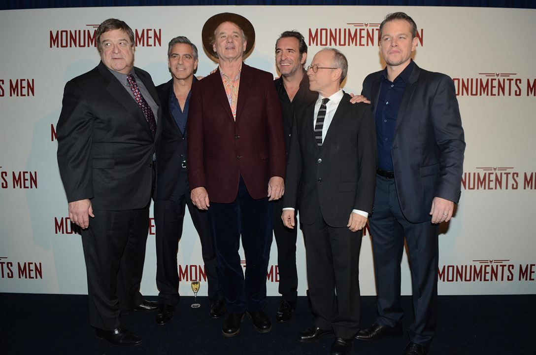 Monuments Men : Couverture magazine Bill Murray, Bob Balaban, George Clooney, Jean Dujardin, John Goodman