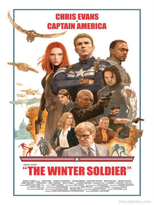 Capitán América: El soldado de invierno : Cartel