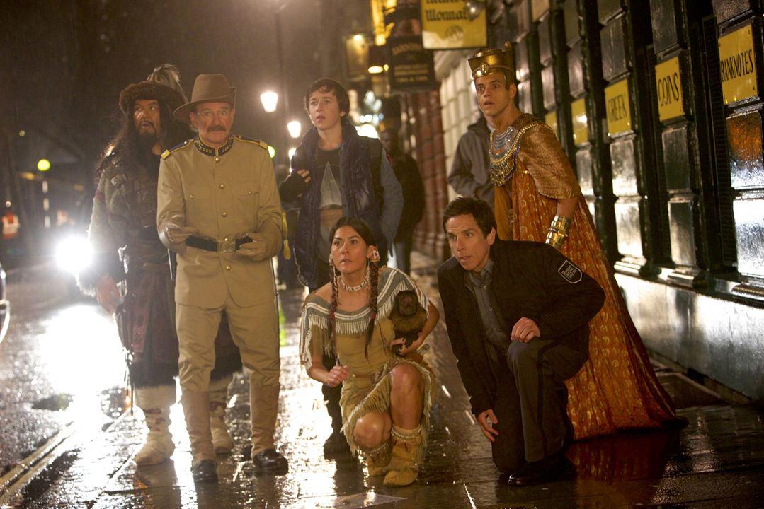 Noche en el museo: El secreto del Faraón : Foto Ben Stiller, Mizuo Peck, Patrick Gallagher, Rami Malek, Robin Williams