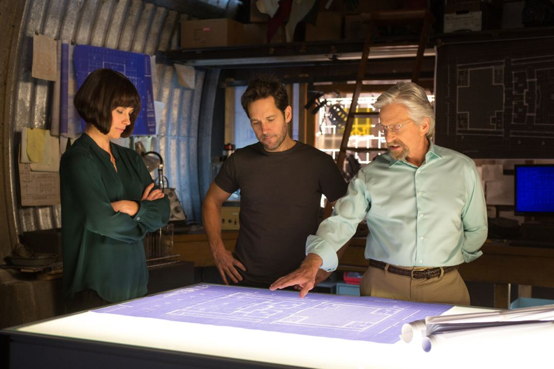 Ant-Man : Foto Evangeline Lilly, Michael Douglas, Paul Rudd