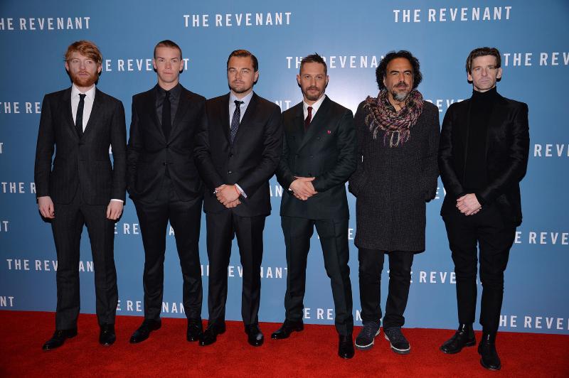 El renacido : Couverture magazine Alejandro González Iñárritu, Domhnall Gleeson, Leonardo DiCaprio, Paul Anderson, Tom Hardy