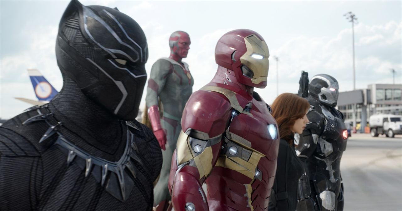 Capitán América: Civil War : Foto Chadwick Boseman, Paul Bettany, Robert Downey Jr., Scarlett Johansson