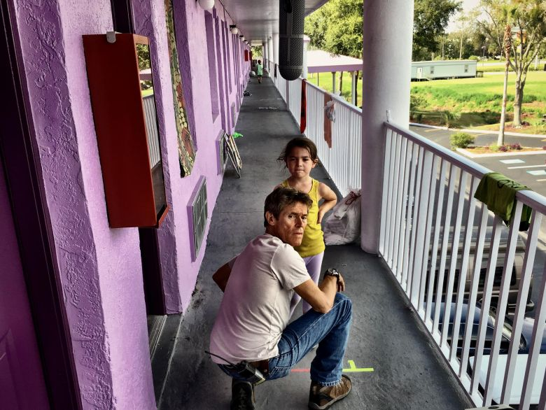The Florida Project : Foto Brooklynn Prince, Willem Dafoe