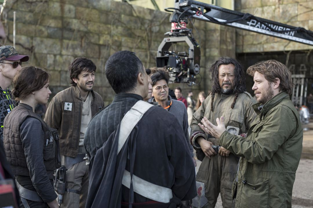 Rogue One: Una historia de Star Wars : Foto Diego Luna, Donnie Yen, Felicity Jones, Gareth Edwards (II), Jiang Wen