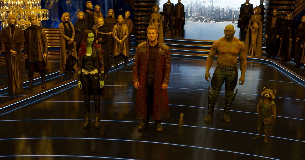 Guardianes de la Galaxia Vol. 2 : Foto Chris Pratt, Dave Bautista, Zoe Saldana