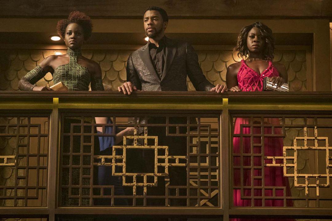 Black Panther : Foto Chadwick Boseman, Danai Gurira, Lupita Nyong'o