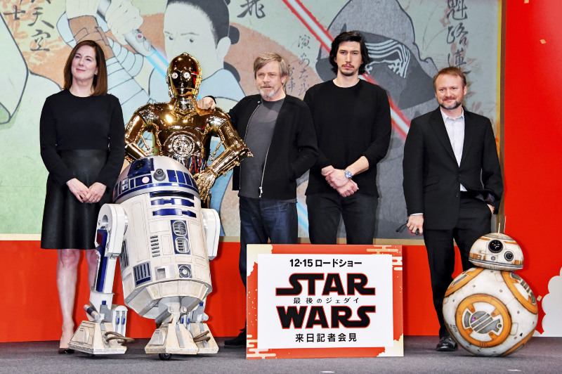 Star Wars: Los últimos Jedi : Couverture magazine Adam Driver, Kathleen Kennedy, Mark Hamill, Rian Johnson