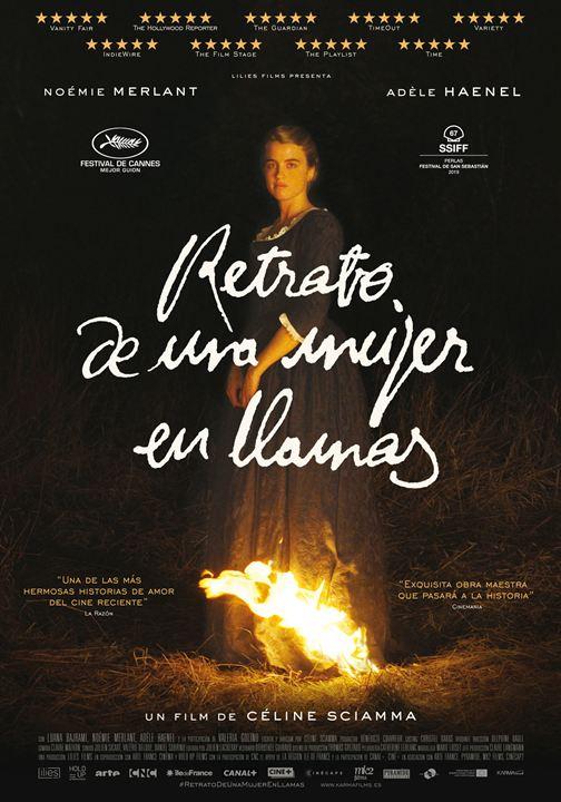 Retrato de una mujer en llamas : Cartel