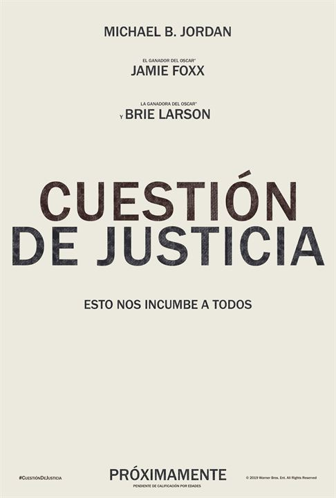 Cuestión de justicia : Cartel