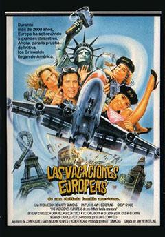 Las vacaciones europeas de una chiflada familia americana : Cartel