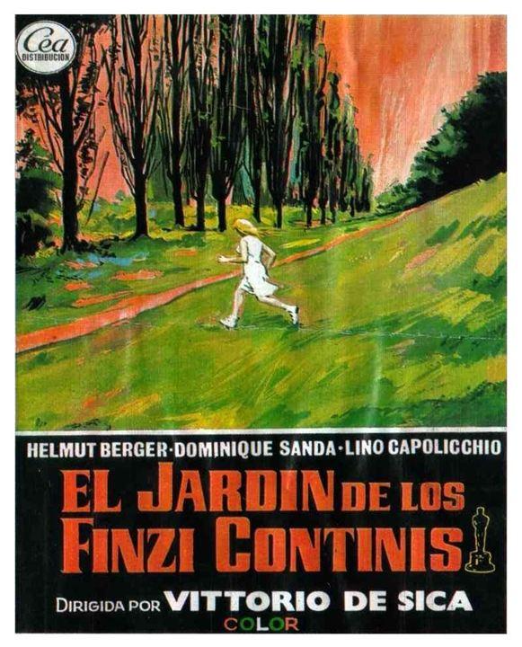 El jardín de los Finzi Contini : Cartel