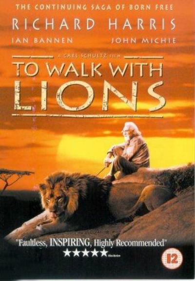 Caminando con leones : Cartel