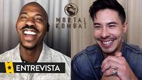 """'Mortal Kombat' de preguntas entre Lewis Tan y Mehcad Brooks. Un objeto """"robado"""", un campeón y una pelea"""
